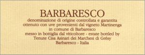 Etykieta Barbaresco | Fot. Archiwum