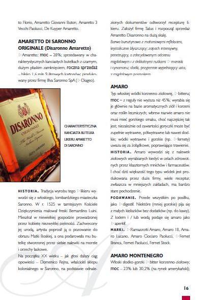 Encyklopedia alkoholi - strona wewnątrz