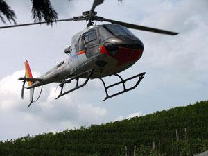 Winnice barolo można zwiedzać także helikopterem / Fot. W. Gogoliński