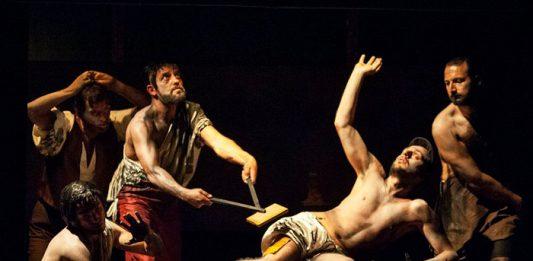 Inscenizacja męczeństwa św. Wawrzyńca | fot. Annalisa Sabia / Wikimedia Commons