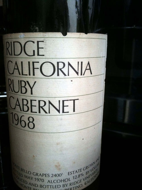 Ridge California Ruby Cabernet