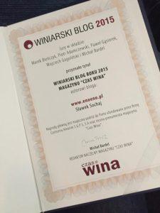 Znamy laureatów konkursu na winiarski BLOG ROKU 2015