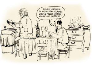 Wino pijamy wyłącznie pod krawatem