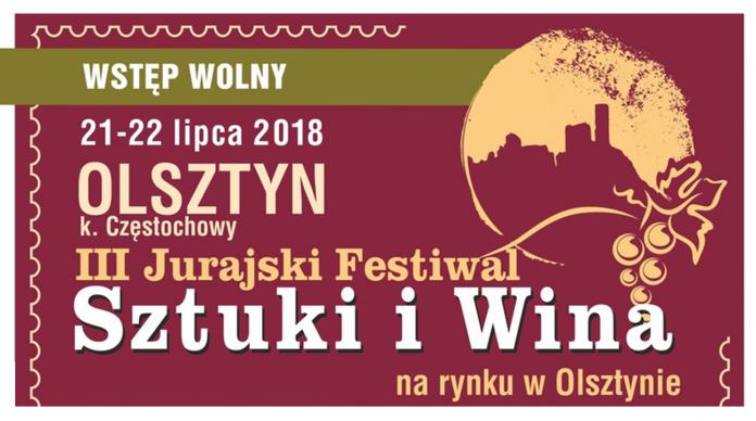 plakat Jurajski Festiwal Sztuki i Wina 2018