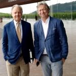 Piero Antinori i Paweł Gąsiorek, w tle Cantine Antinori, 2018 | fot. M. Bardel