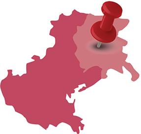 umiejscowienie Friuli-Wenecji Julijskiej w regonie Veneto | mapka © Czas Wina