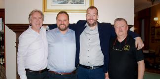 od lewej: Paweł Gąsiorek, Jindrich Kadrnka, Filip Mlýnek, Lech Małysz | fot. J. Suchocka