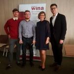 Jeszcze ostatnie foto i kończymy, bo wpisy na blogi same się nie zrobią. Od lewej: Damian Buraczewski, Robert Borowski, Justyna Korn-Suchocka, Arkadiusz Steć.