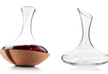 Dekanter jest specjalistycznym rodzajem karafki zaprojektowanym tak, by jak największa powierzchnia przelanego doń wina miała kontakt z powietrzem | fot. Butik Winomana