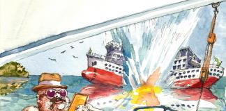 Daphne Caruana Galizia najwyraźniej była już blisko wyjaśnienia, kto stoi za serią zamachów bombowych, które wstrząsnęły Maltą w 2016 i 2017 roku. | rys. Andrzej Zaręba | CW95