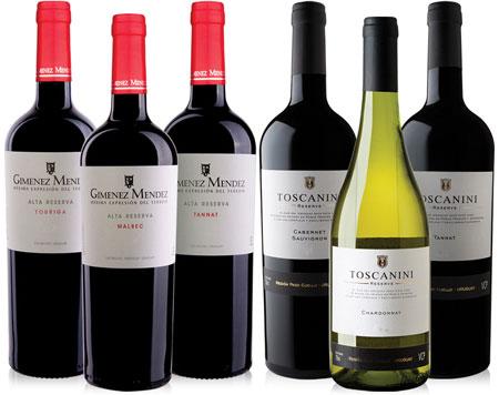 Urugwajskie rezerwy – zestaw win. | zobacz więcej
