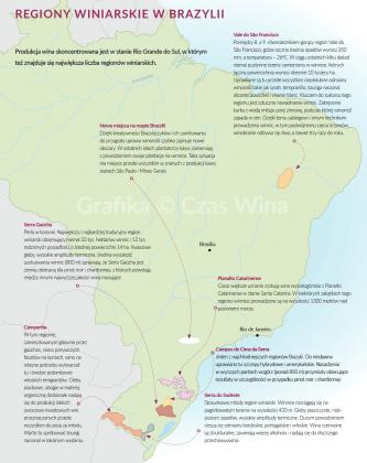 Winiarska mapa Brazylii | © Czas Wina