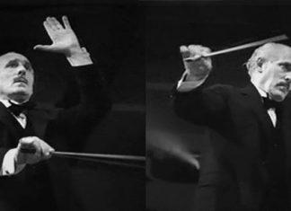 Toscanini w czasie dyrygowania orkiestrą