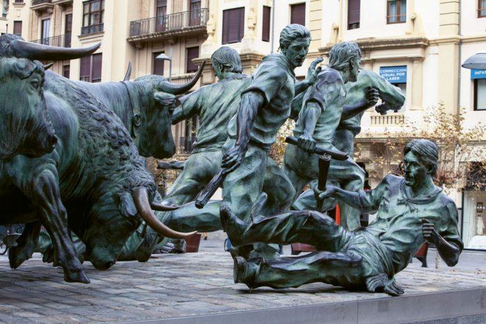Pampeluna, Nawarra, Pomnik walk byków