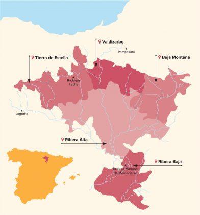 mapa Nawarra Hiszpania
