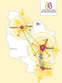 Burgundia mapa