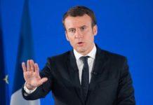 Suchy styczeń - Emmanuel Macron
