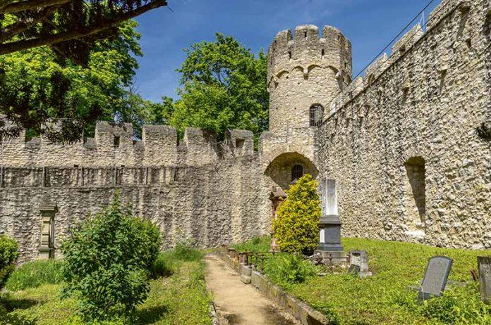 Ruiny zamku w Ingelheim