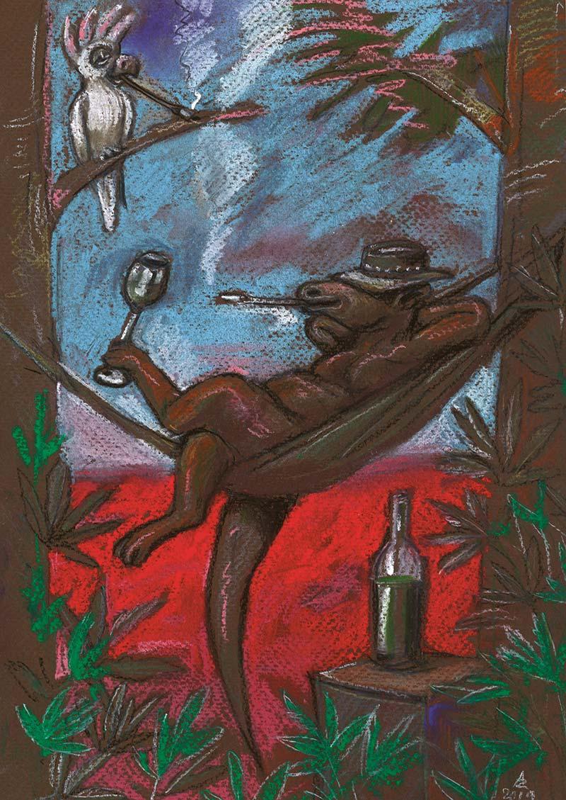 [Kangur] buszujący w marihuanie