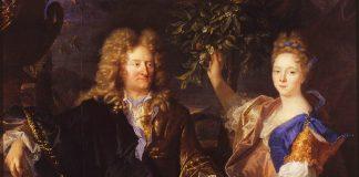 Portret Jana Andrzeja Morsztyna z córką Izabelą Czartoryską autorstwa Hyacinthe'a Rigaud.