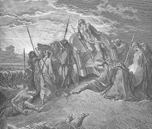 Śmierć Achaba. Rycina Gustave'a Dorre.