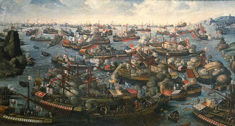 Bitwa pod Lepanto, autor nieznany.