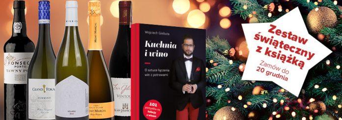 Świąteczny zestaw win z książką