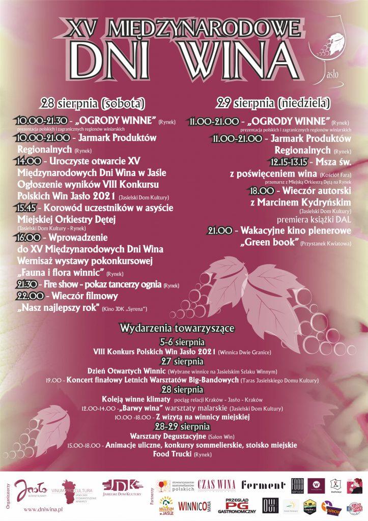 Międzynarodowe dni wina w Jaśle – plakat